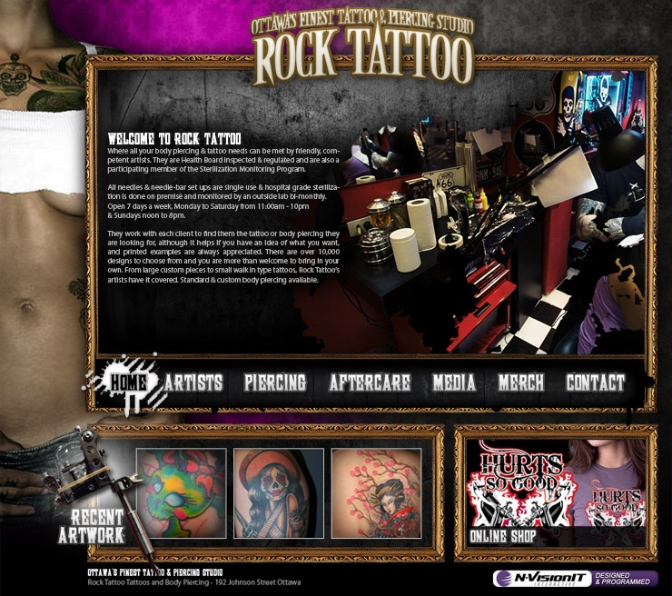 website print design rock tattoo ottawa web design mobile app development marketing experts. Black Bedroom Furniture Sets. Home Design Ideas