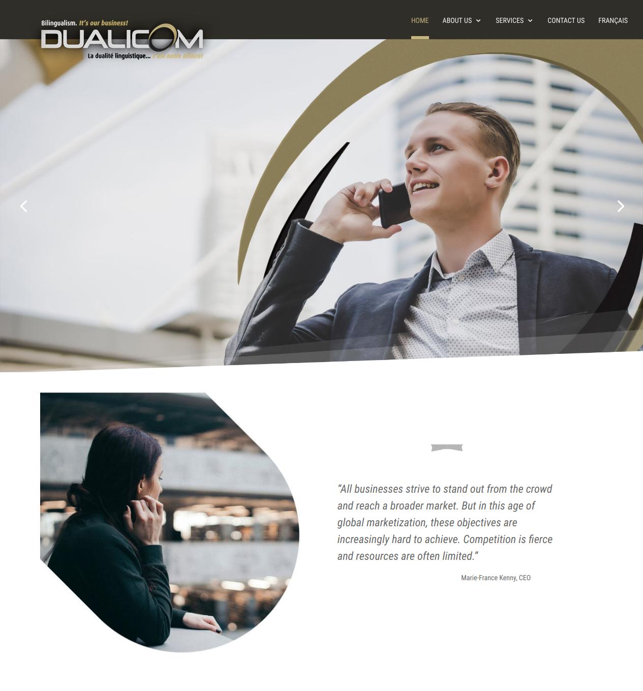 Dualicom Homepage (http://dualicom.ca)