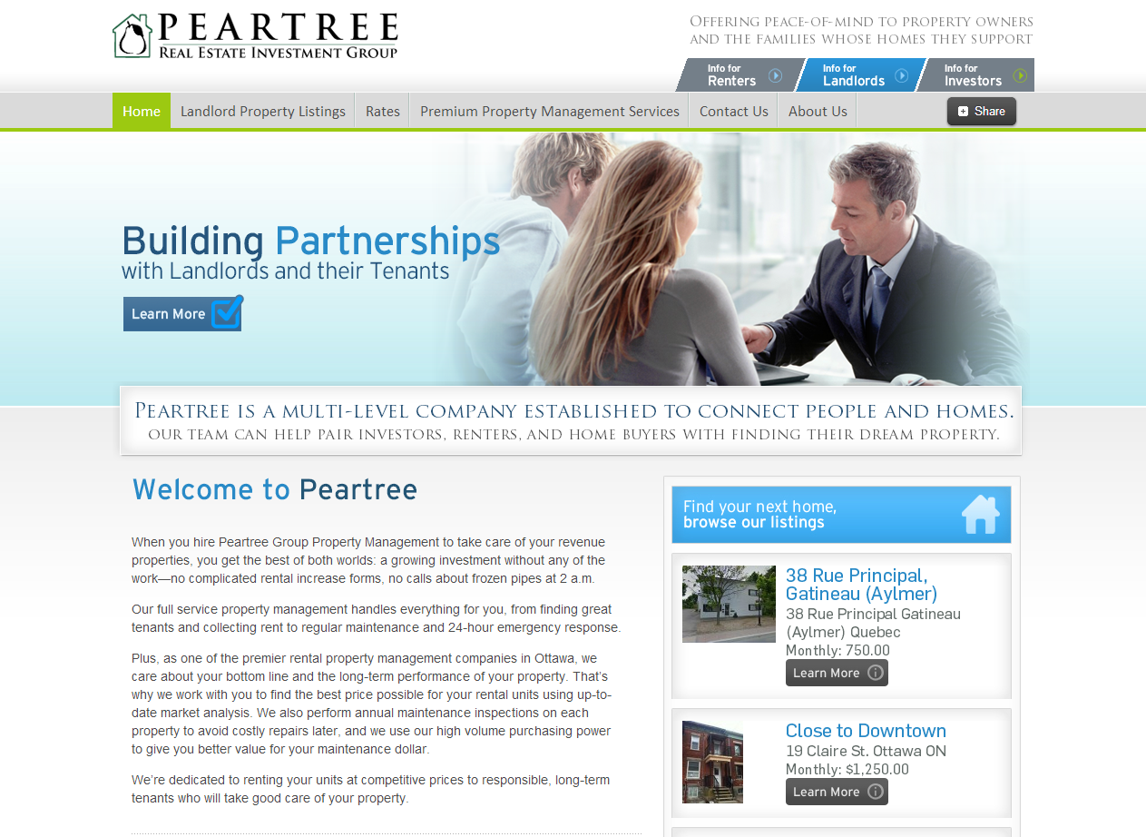 Peartree Property Management Home Page (http://www.peartreegroup.ca)